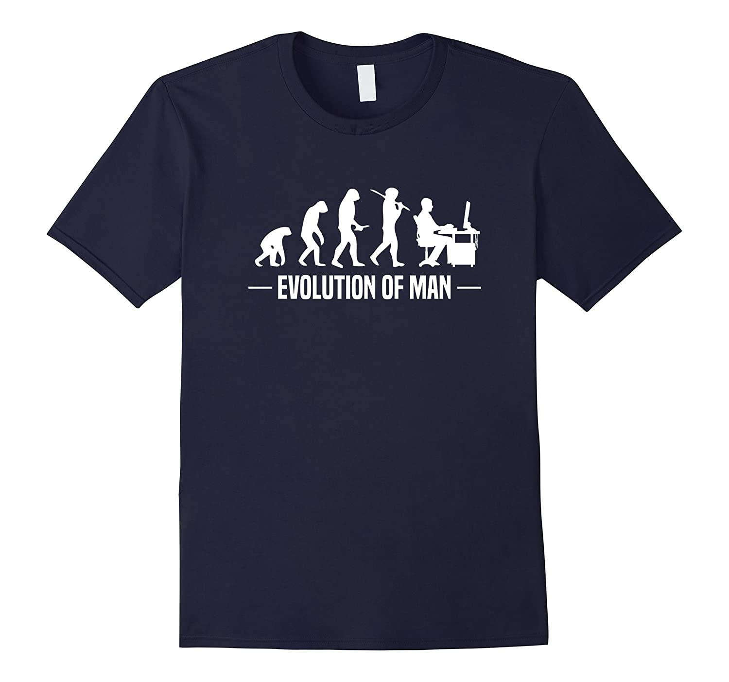 5c707007 Evolution of Man T-Shirt Funny Computer Gamer Tee-ANZ ⋆ Anztshirt
