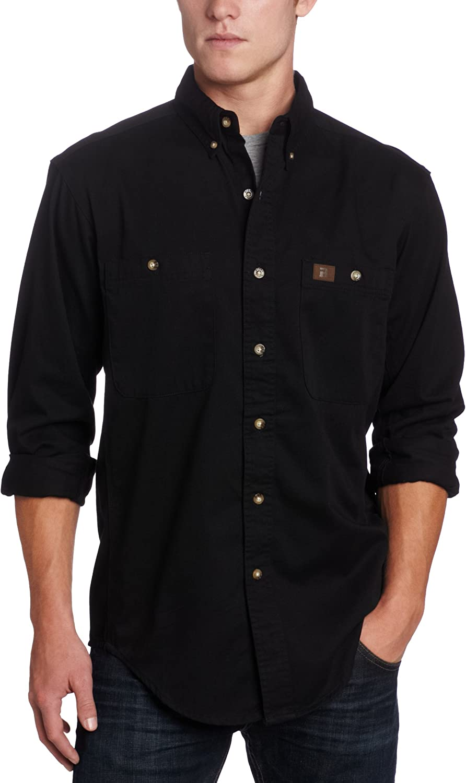 Wrangler Riggs Workwear Men's Logger Twill Long Sleeve Work Shirt: Clothing