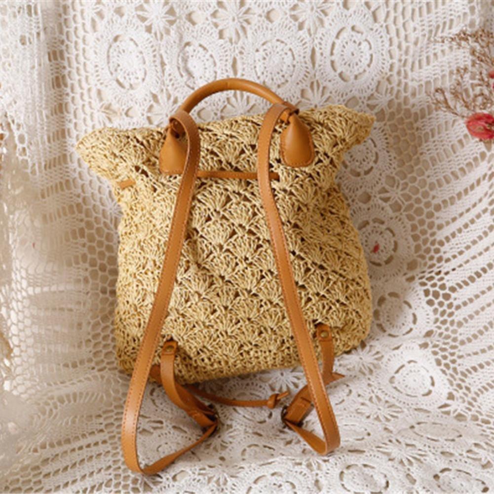 Mochila de paja para mujer, bolso de ganchillo de playa, mochila vintage de Beatie: Amazon.es: Bricolaje y herramientas