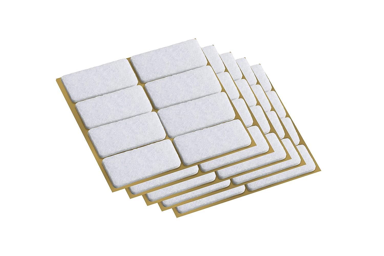 8 Filzgleiter selbstklebend 36x22 mm  Möbelgleiter Stuhlgleiter Stuhlgleiter