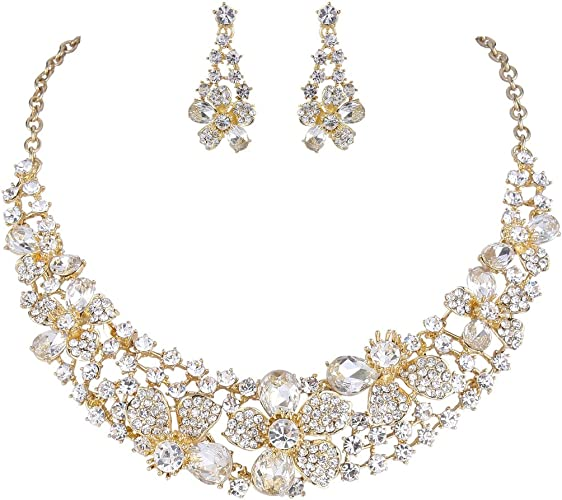 Beautiful colored enamel flowers rhinestone necklace is rare women/'s jewelry