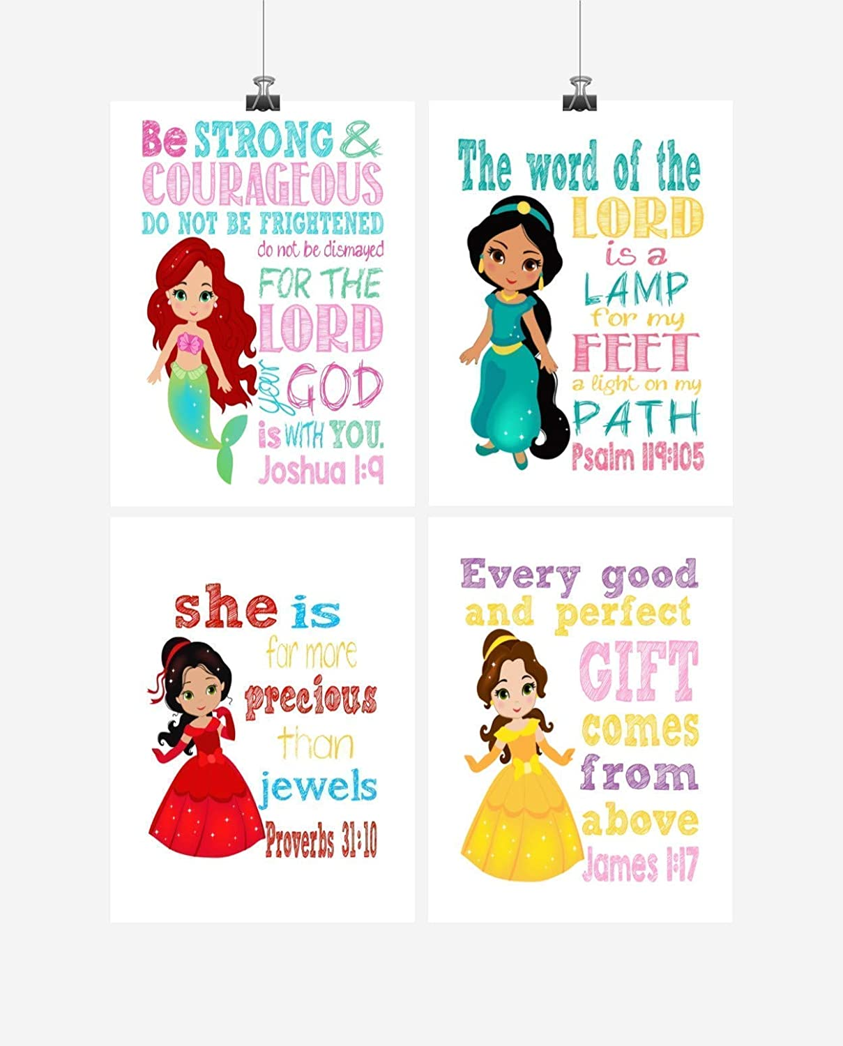 The word of the Lord is a lamp for my feet Psalm 119:105 African American Jasmine Princess Inspirational Nursery Decor Print