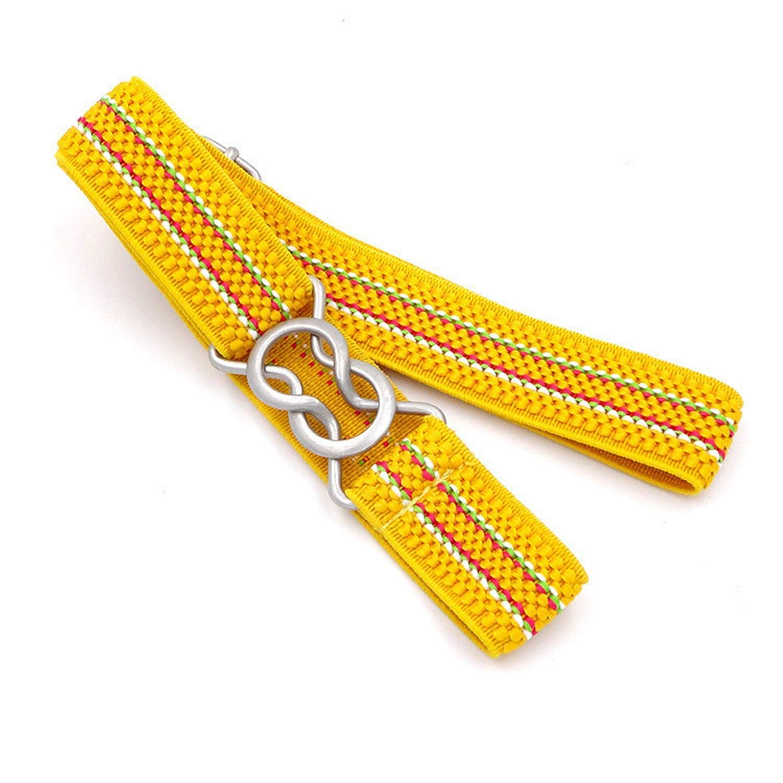 LeNG Fashion Wide Kids Children Elastic Waist Belt For Boys Girls,OneSize,Yellow