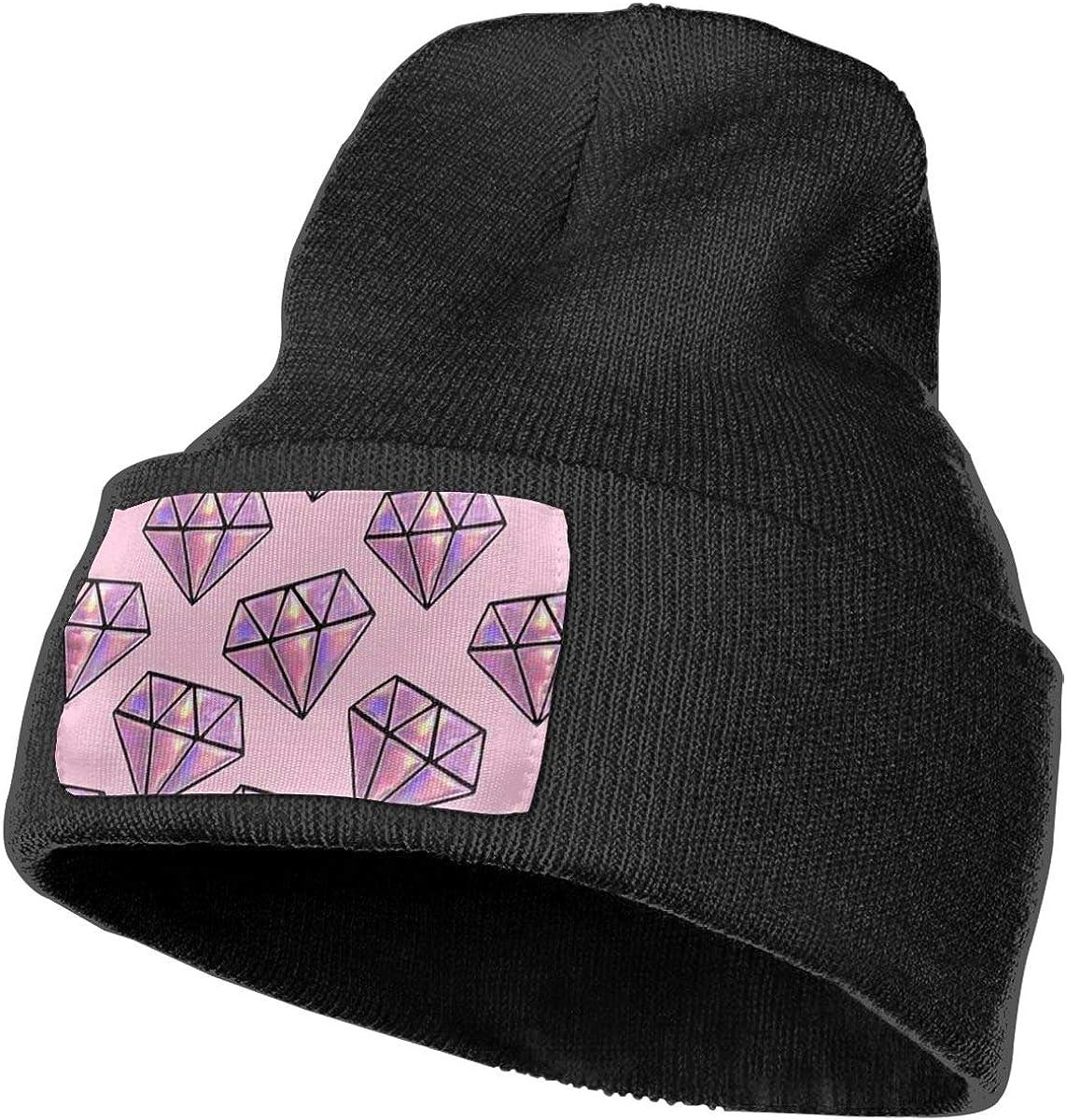 Diamond Men Women Plain Cuff Serious Style Beanie Hat Skull Personalized Beanie
