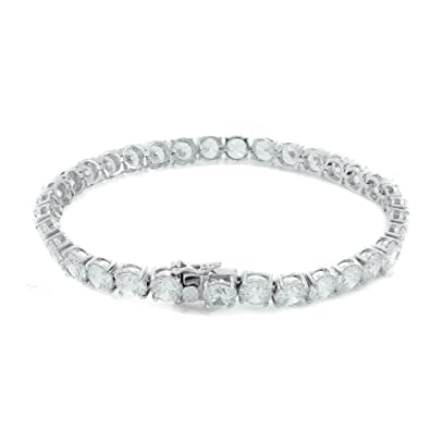 ce99f46854508 Bling Bling NY New 1 Row Tennis Necklace/Bracelet Silver Finish Lab Created  Diamonds 6MM Iced Out Solitaires