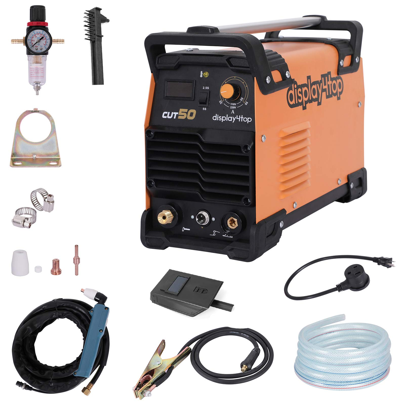 Display4top CUT-50 DC Inverter Plasma Cutter,110/220V Dual Voltage Compact Metal Cutting Machine by Display4top