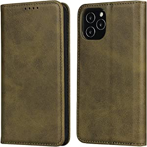 Cavor iPhone 7/8/SE 2020 Case, Leather Wallet Case Cover [Card Slot] [Built-in Magnet] Shockproof Protective Flip Case for iPhone SE 2020 and iPhone 7/8 - Dark Green