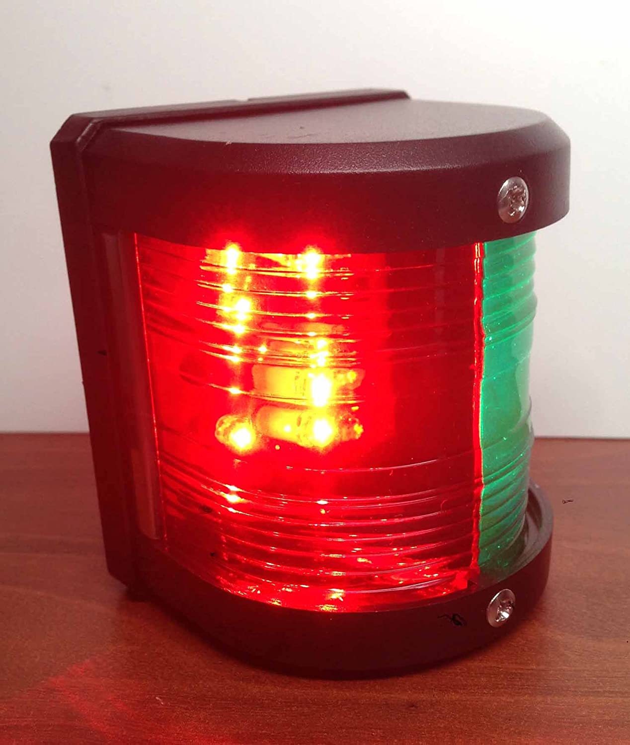 MARINE BOAT RED /& GREEN BOW LED NAVIGATION LIGHT WATERPROOF 2 NAUTICAL MILES