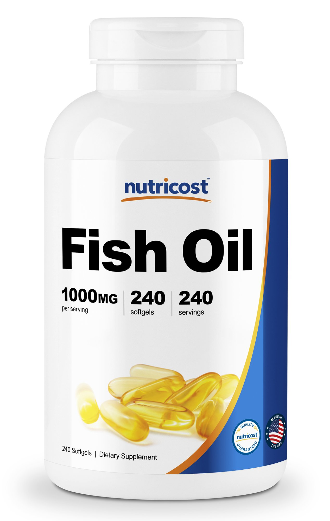 Nutricost Fish Oil Omega 3 1000mg (600mg of Omega-3), 240 Softgels