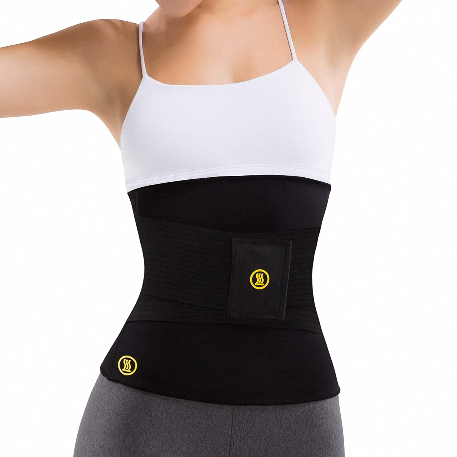 b1127f6eefd22 Hot Shapers Hot Belt with Waist Trainer – Women s Sweat Waist Trimmer Corset