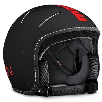 Momodesign Venom - Casco de esquí, Frost Black/Red Fluo Logo ...