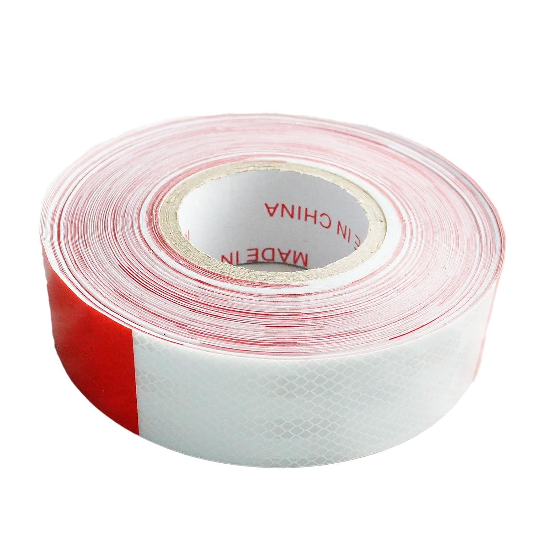 反射テープ駐車場トラックトレーラー車の車トラック安全赤白2インチx150ft B075YG6VCC