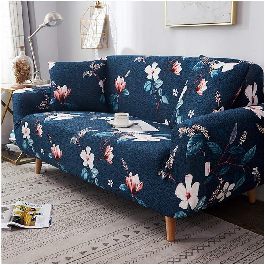 Lionel Philip Funda de sofá Estampada Floral Spandex para Sala de Estar Decoración del hogar Protector de Muebles Estiramiento Elástico Funda de sofá Toalla