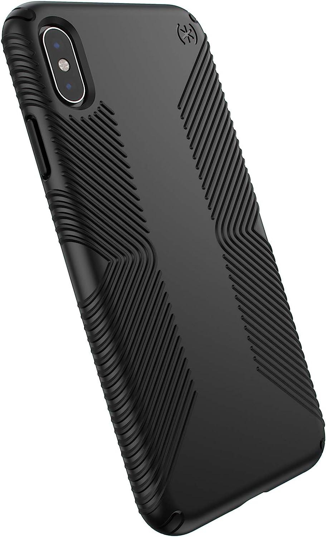 Speck Products Presidio Grip iPhone XS Max Case, Black/Black