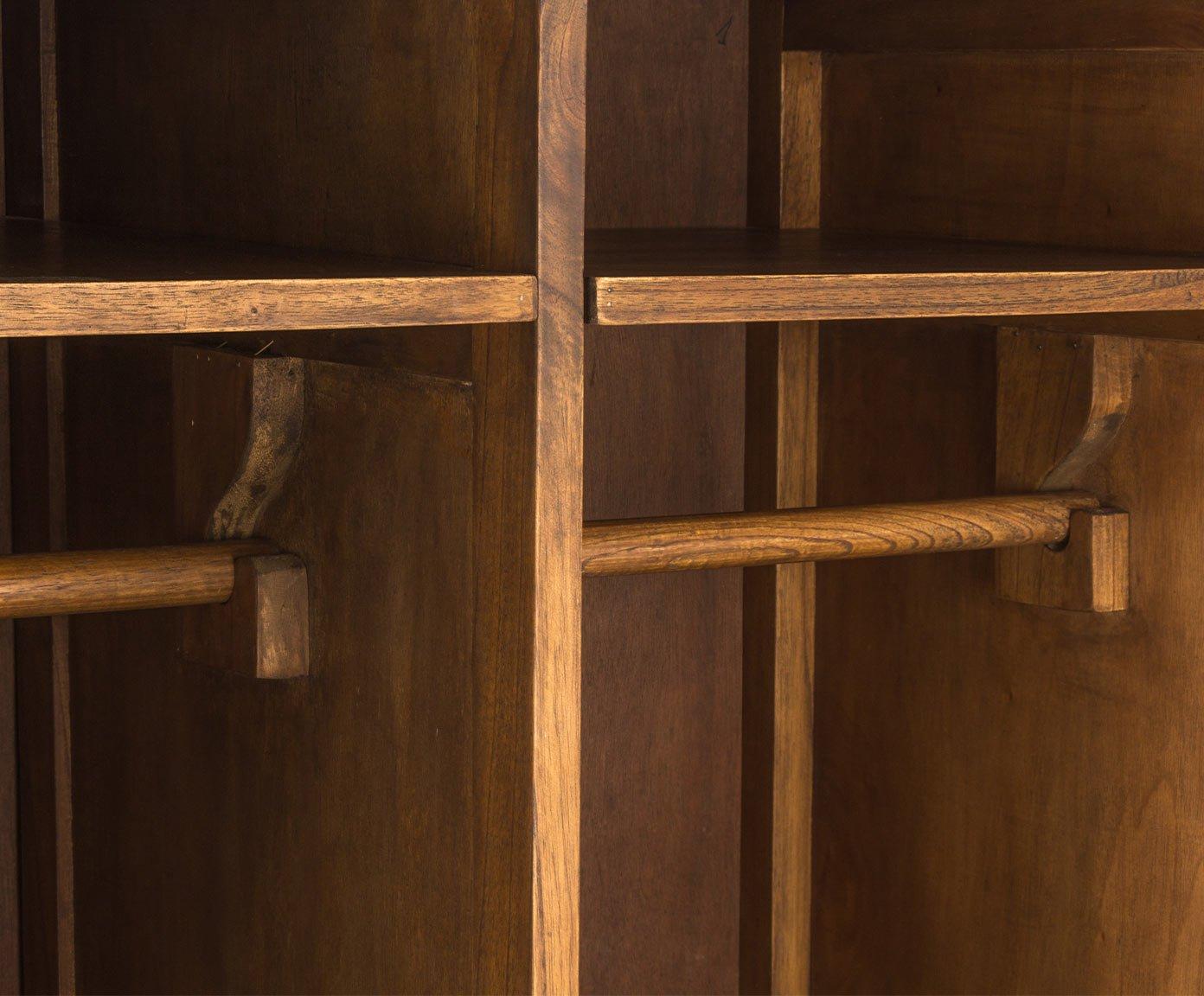 Armario ropero de madera dos cuerpos serie Dua: Amazon.es: Hogar