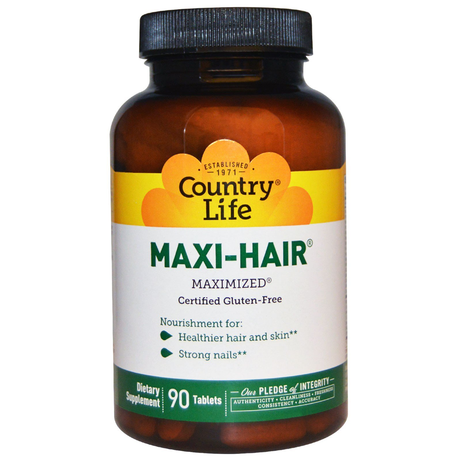 Country Life - Maxi-Hair, Strengthens Hair, Skin, and Nails - 90