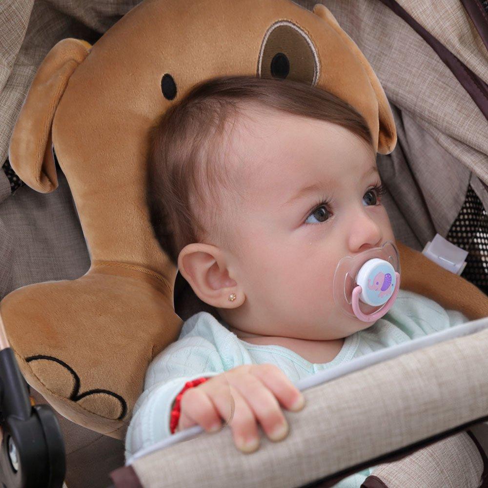 AIPINQI Almohada de Apoyo para la Cabeza y el Cuerpo con Soporte para el Cuello para Asiento de Coche y Cochecito de beb/é