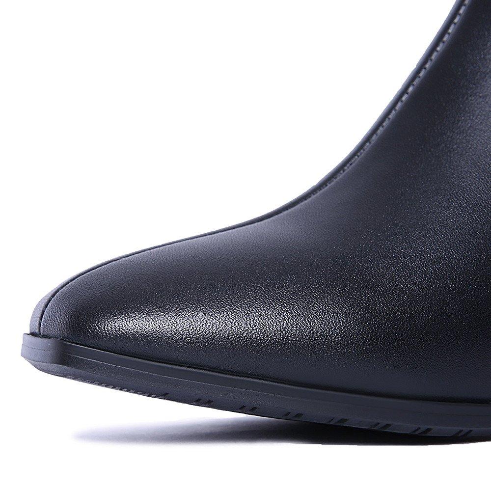 Nine Seven Patent Leather Womens Square Toe Low Heel Zip Knee High Handmade Boot