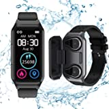 Smart Watch Earbuds 2 in 1, TWS Earbuds with Fitness Tracker Watch , Waterproof Bracelet with Step Calories, Sleep Tracker, H