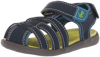 See Kai Run Boys' Cyrus II Sport Sandal, Navy, 10 M US Toddler