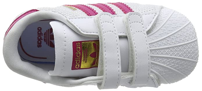Amazon.com | adidas Originals Superstar Crib White/Bold Pink Mesh 2 M US Toddler | Shoes