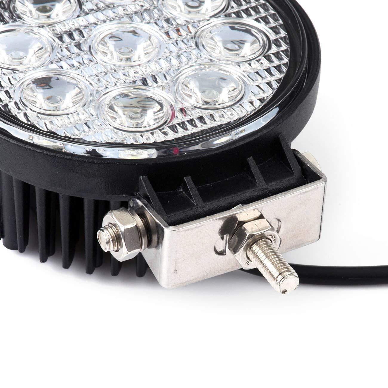 6000/ 2/x LED Faro 27/W Faro de trabajo para luz de trabajo SUV Offroad IP67/2430/l/úmenes con 9/ledes reflector de marcha atr/ás ATV UTV redondas camiones /6500/K Offroad Tractores