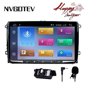 NVGOTEV - Navegador GPS estéreo para coche para VW, unidad de ...