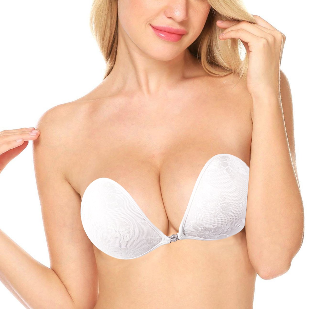 2a27926fe4011 Kelace Self Adhesive Bra-Premium Strapless Sticky Bra -Invisible Push-up  Backless Silicone Bra for Woman (D