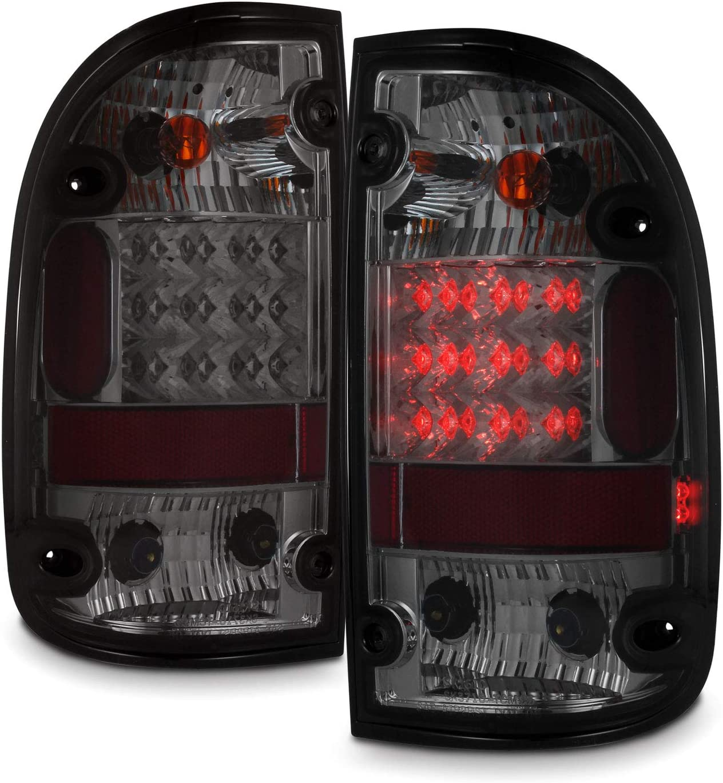 For 95-00 Toyota Tacoma PickUp Truck Dark Smoke Red LED Tail Light Brake Signal