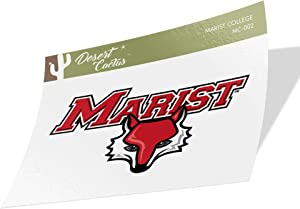 Marist College Red Foxes NCAA Vinyl Decal Laptop Water Bottle Car Scrapbook (Sticker - 002)