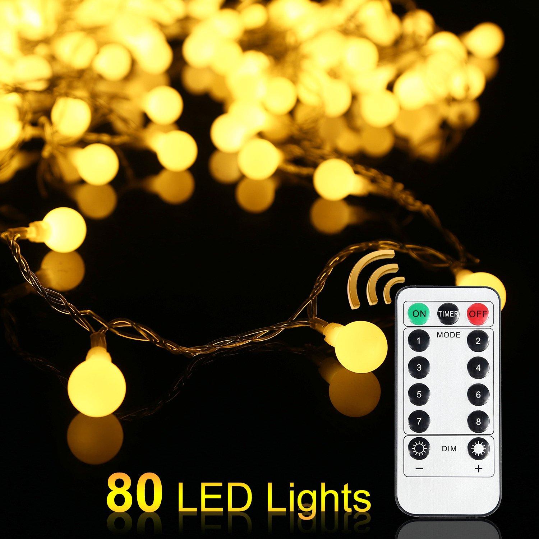 Battery Powered Fairy Light for Halloween Christmas Weddings Birthday Family School Parties Decor 2 Lighting Modes Warm White MoKo Pineapple String Lights 3m//9.6ft 20 LED Waterproof Lights