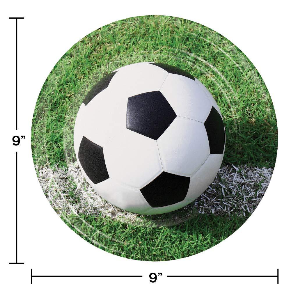 Amazon.com: Platos de papel de fútbol, 24 ct: Health ...