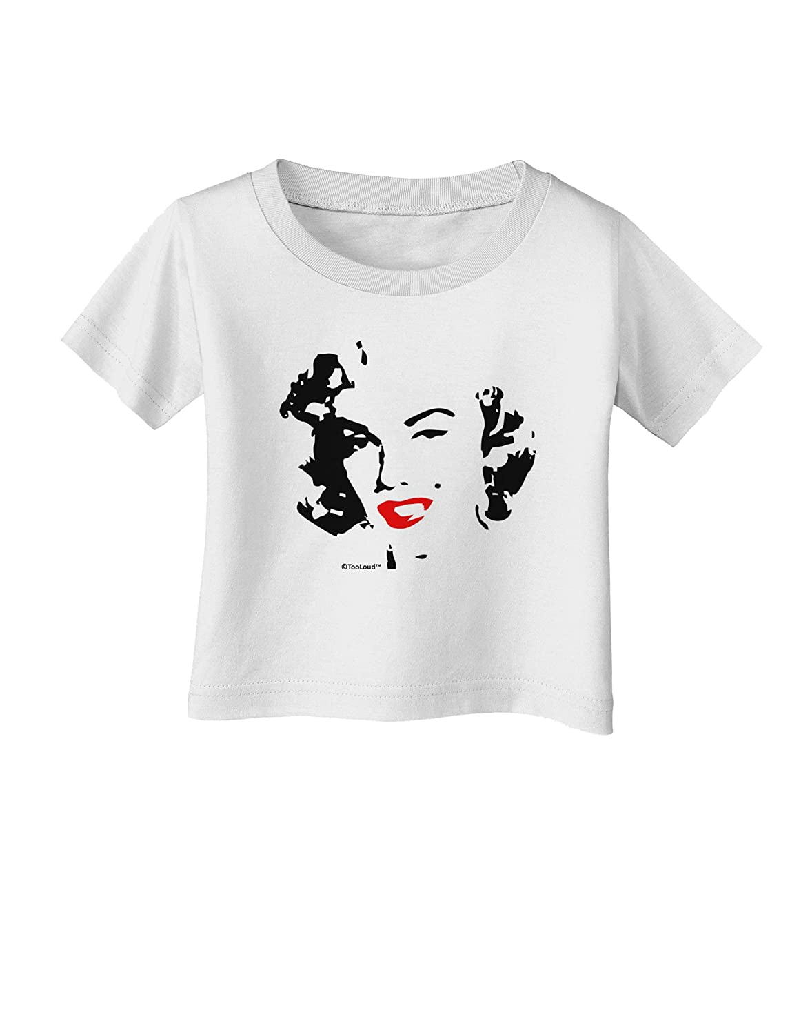 TooLoud Marilyn Cutout Design Red Lips Infant T-Shirt