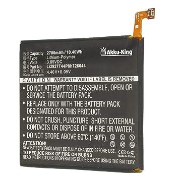 Akku-King batería sustituir ZTE Li3927T44P8h726044: Amazon ...
