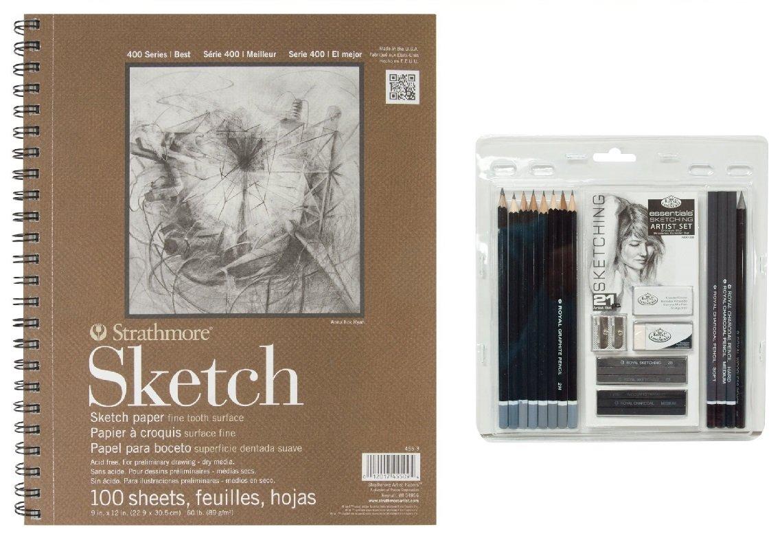 Set de dibujo Sketching con cuaderno, Royal & Langnickel xmp