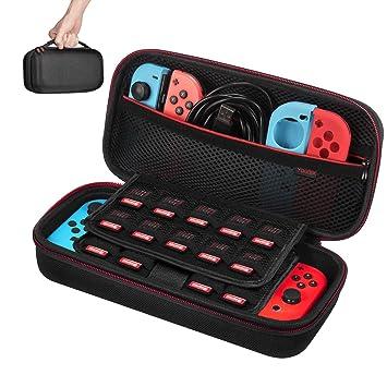 Etui pour Nintendo Switch - Younik Housse de Transport Rigide Version  Améliorée avec Espace de Stockage b5be9152ce5