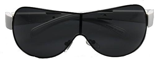 Iga Optic – Gafas de sol – para mujer Negro schwarz mit Weißen Bügeln und Metalleinlage