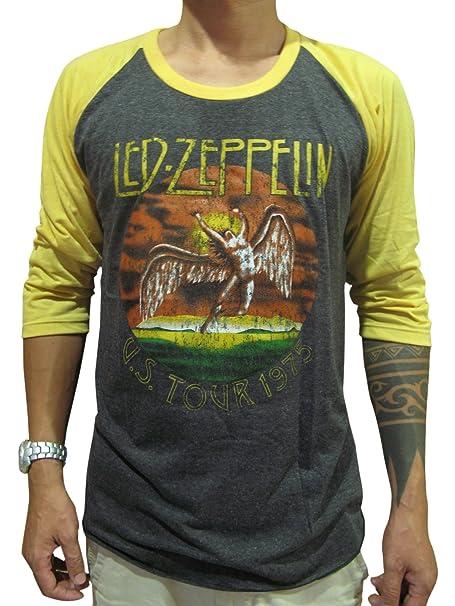 9c46415e BUNNY Brand Mens Led Zeppelin U.S.Tour 1975 Concert Raglan T Shirt ...