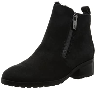 Cole Haan Women's Oak Waterproof Shearling Bootie Black Suede/Shearling Boot  11 B (M