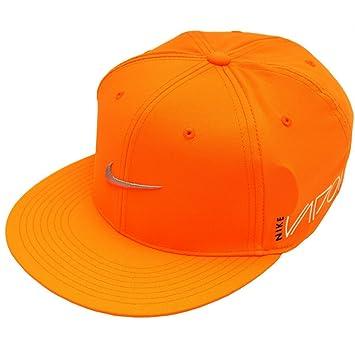 NIKE RZN Vapor Ultralight Golf Cap Pro True Tour Flex-Fit Hat (Total  Orange Silver ab15e459d60