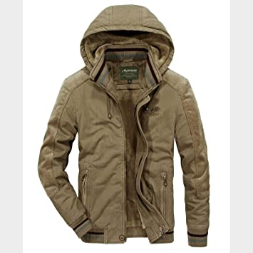 メンズコート・ジャケット-暖かく保つためのベルベット付きの屋外大型メンズコットンパッド入りジャケット
