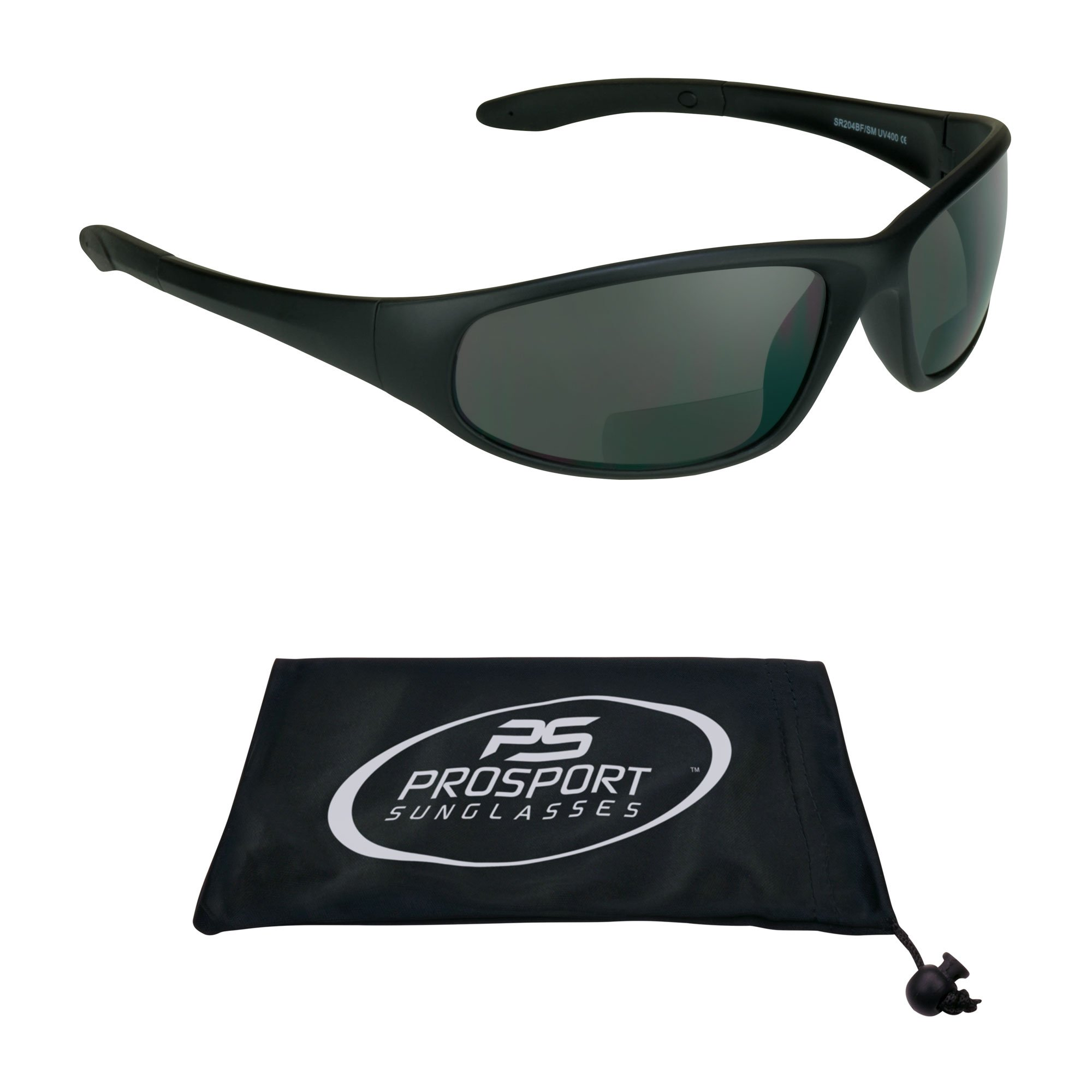 proSPORT Bifocal sunglasses with ANSI Z87 Polycarbonate Safety Smoke Lenses for Men and Women