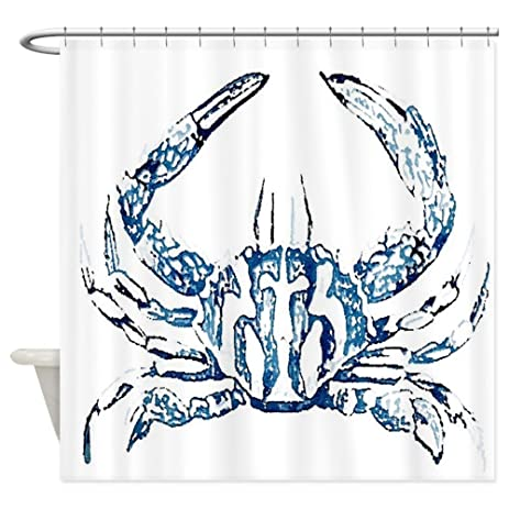 Lovely CafePress   Coastal Nautical Beach Crab Shower Curtain   Decorative Fabric Shower  Curtain