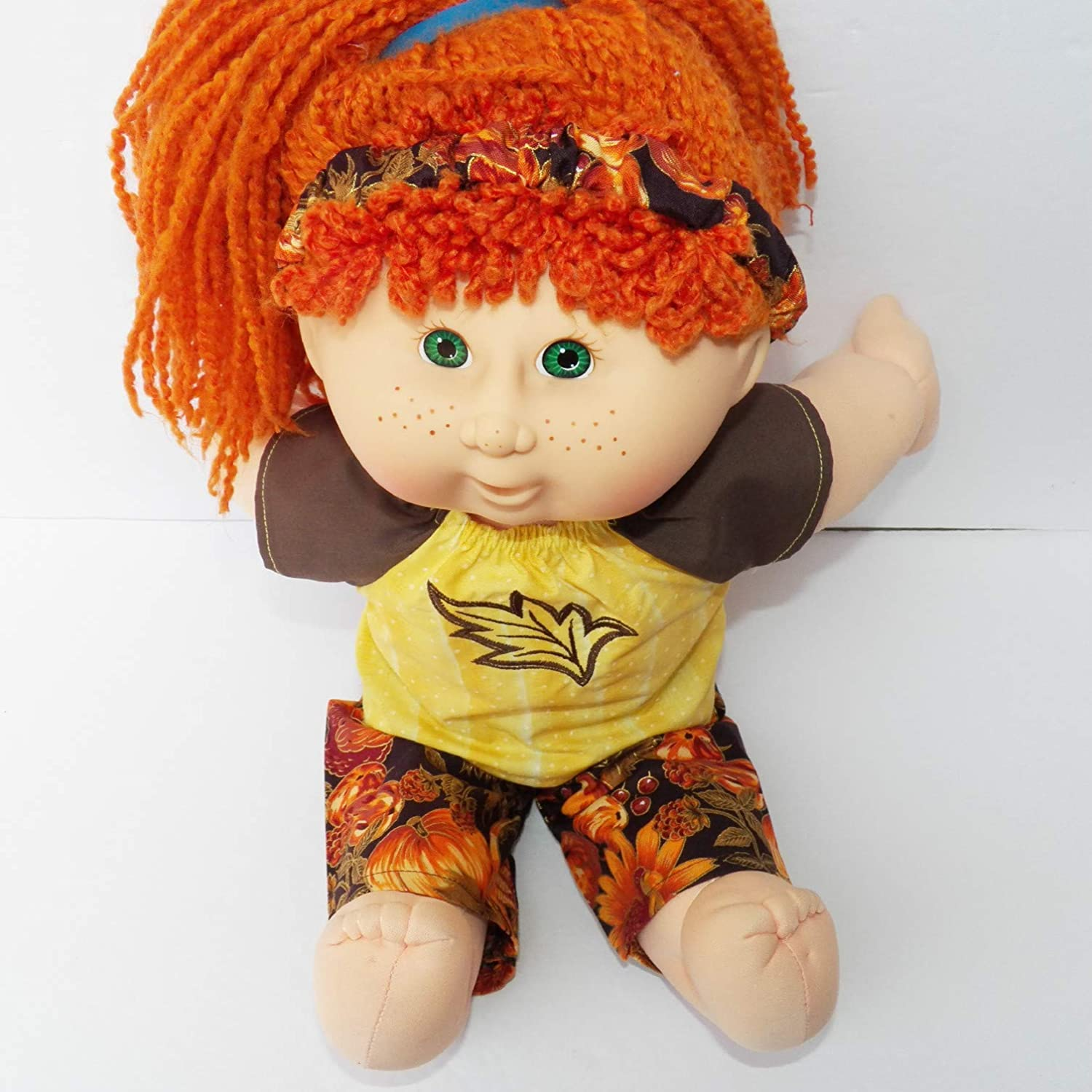 Cabbage Patch Doll Clothes 16 Inch Girl Yellow Blouse Pants and Headband