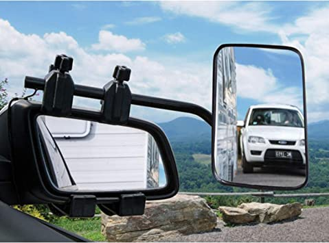 Set of 2 Universal Clip-on Towing Side Mirror Adjustable Extensions View