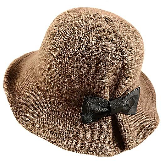 YSense Womens Winter Foldable Wool Blend Cloche Bucket Hat at Amazon  Women s Clothing store  c47b1817b3c2