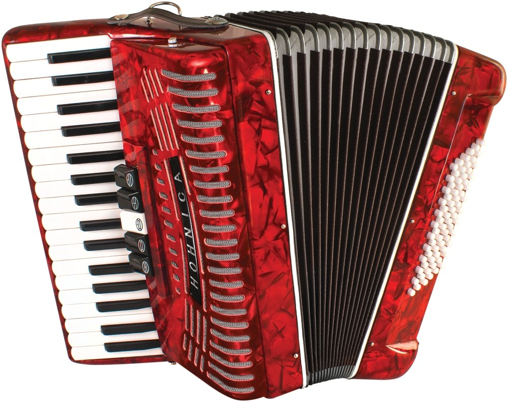 Hohner 1305-RED Hohnica 72 Bass 34-Key Entry Level Piano Accordion Range G to E by Hohner Accordions