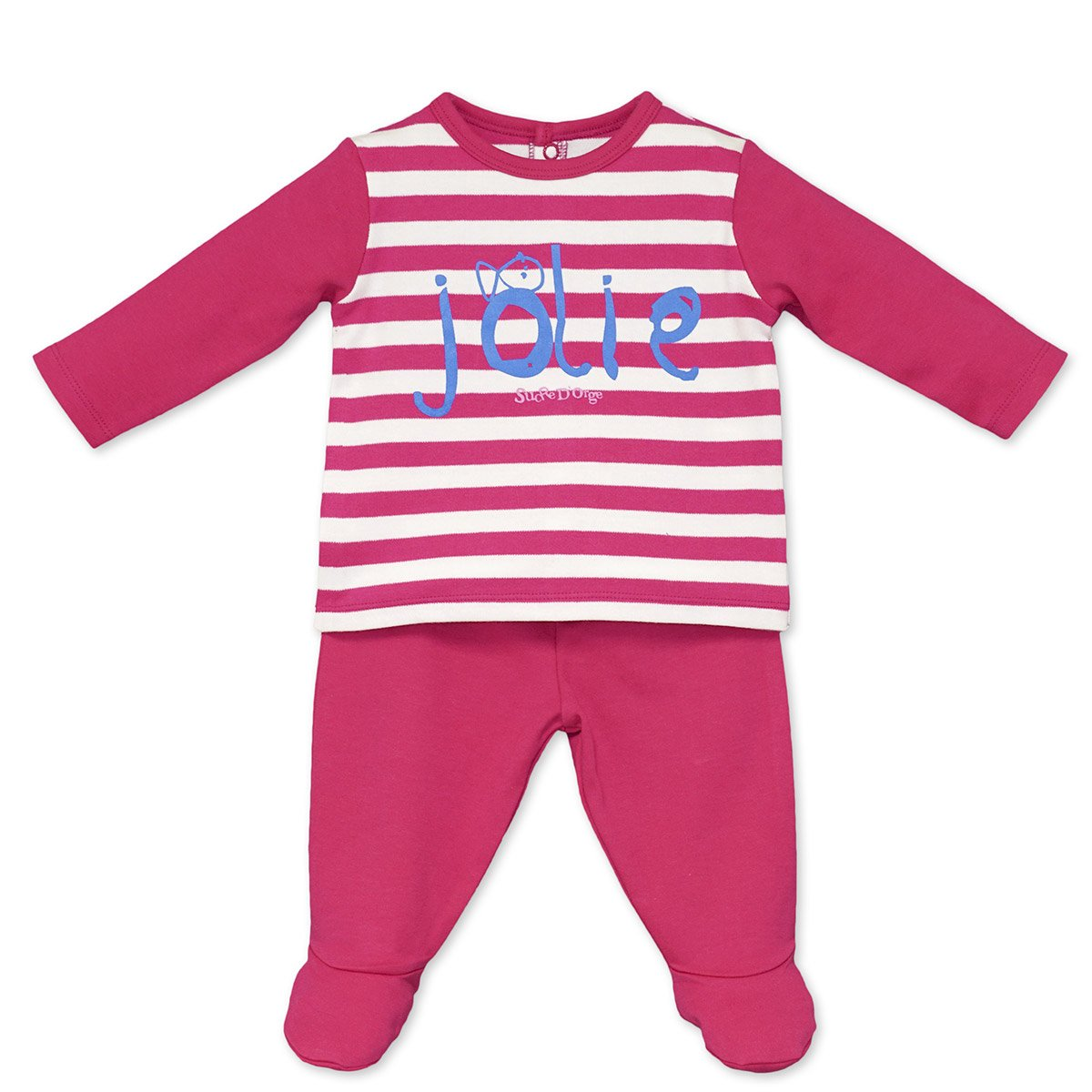 Sucre D'Orge - sleepwear - Féminin - 1 - pyjama 2 pieces fuchsia - Taille 6 Mois - Couleur Rose Sucre D' Orge 3512044043686