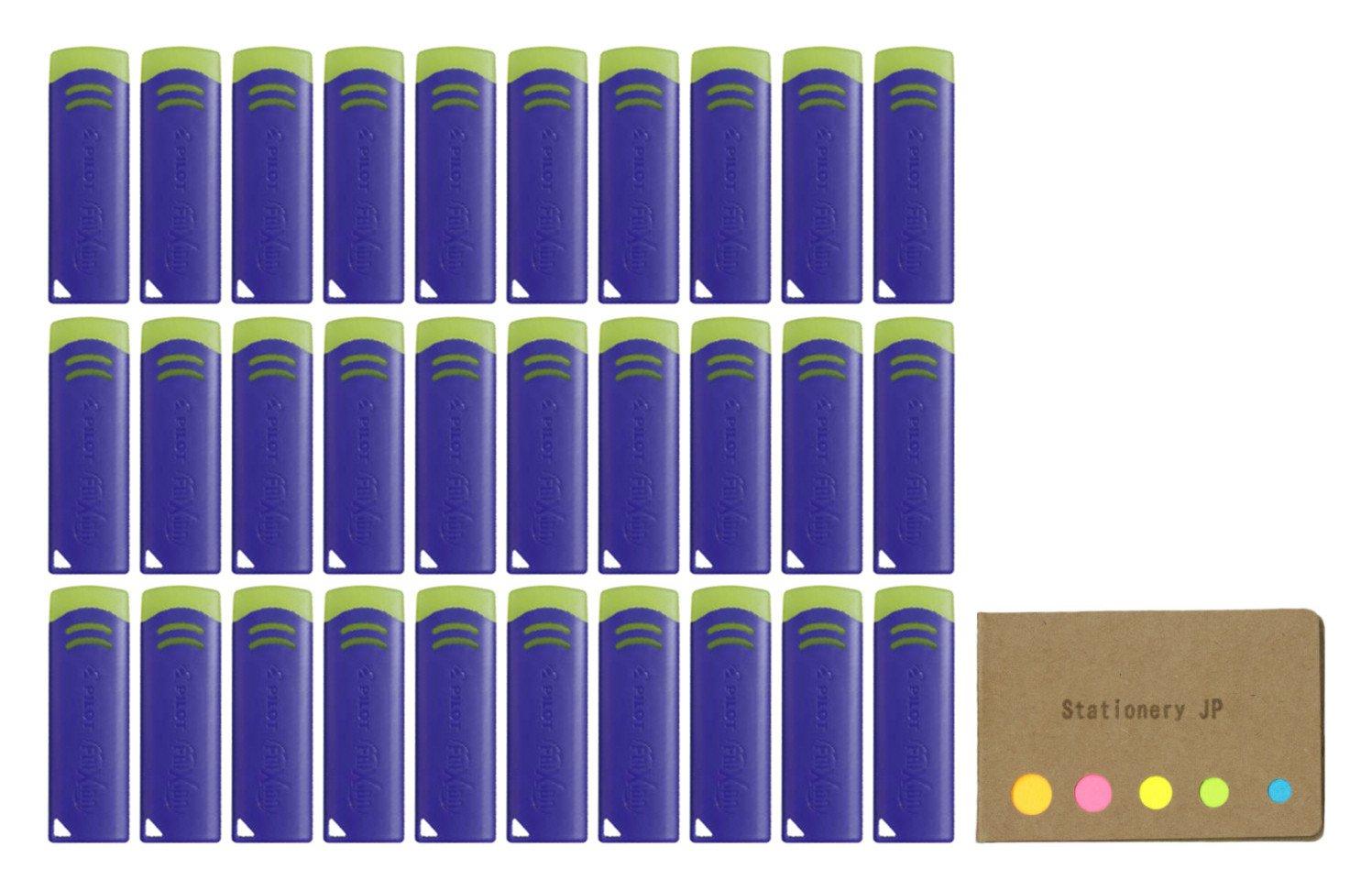Pilot FriXion Eraser New Model, Blue Color, 30-pack, Sticky Notes Value Set by Stationery JP (Image #1)