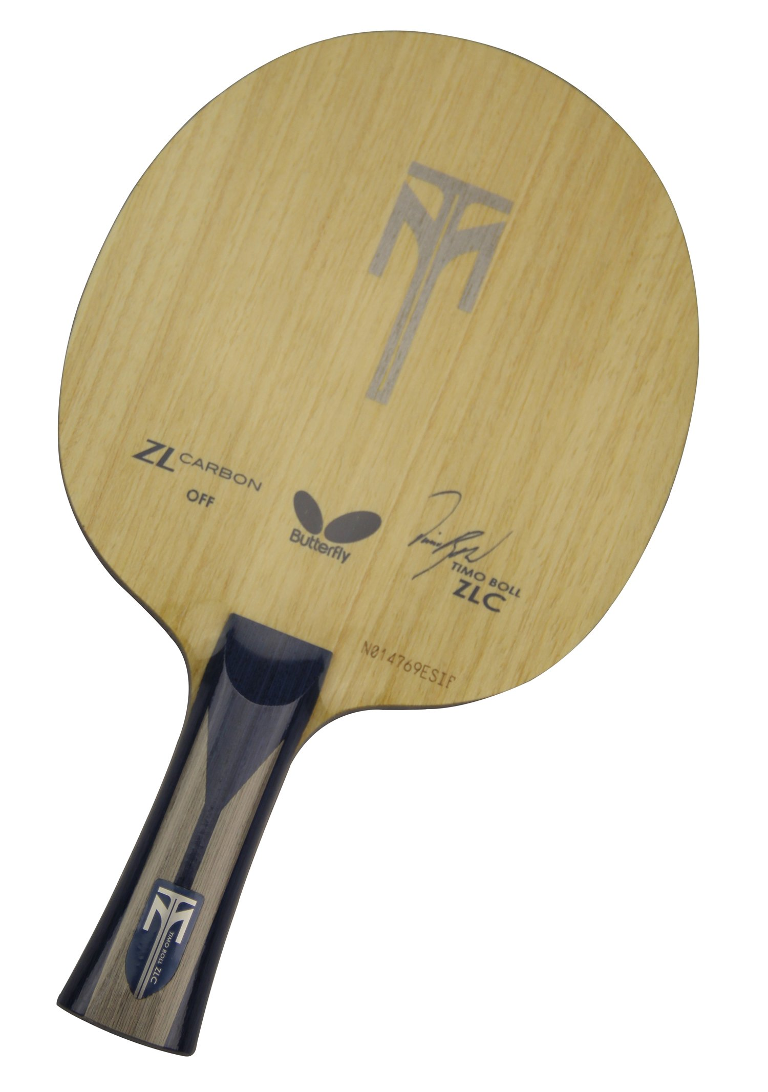 Butterfly Timo Boll Zlc-FL Blade with Flared Handle by Butterfly